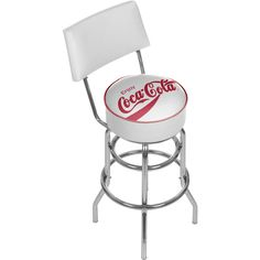 Trademark Games Red Checker Coca Cola Pub Stool with Back