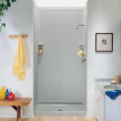 Swanstone Shower Wall Kit with Bench Seat at Menards | Bathroom ...