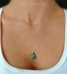 Layered Abalone Necklace - Multi Strand Paua Sea Shell Necklece