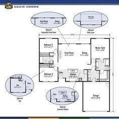 adair homes plan 1952 adairhomes com floor plans pinterest
