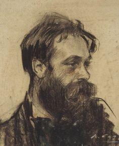 Ramon Casas i Carbó - Retrato de Joaquim Mir, c.1901