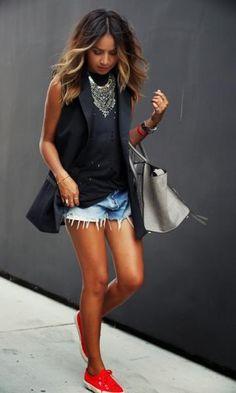 Look com Colete + Maxi Colar - Moda it | Moda It