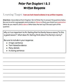 Engage NY ELA Module 3 (Peter Pan) Resources by Diane Taylor | Teachers Pay Teachers