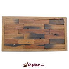 Ručně vyráběný obraz vyskládaný kousek po kousku ze dřeva vysloužilých lodí Dálného východu vsazený do kvalitního dřevěného rámu.   Rozměr obrazu 640 x 340 mm.  Součástí dodávky rámu (obrazu) je kovové očko vč. hřebíčků pro umístění na rám dle potřeb zákazníka. Texture, Wood, Crafts, Surface Finish, Manualidades, Woodwind Instrument, Timber Wood, Trees, Handmade Crafts