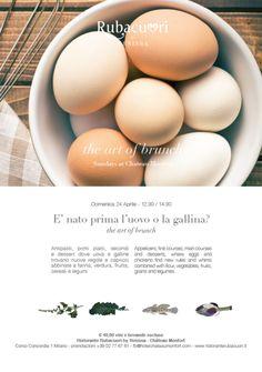 """A @ChateauMonfort il Sunday Brunch con """"E' nato prima l'uovo o la gallina?"""" 24 Aprile Milano"""
