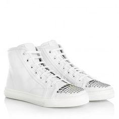 Gucci Sneakers – California High Sneaker Nappa Moorea Great White – in weiß – Sneakers für Damen