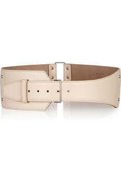 ALAÏA  Linked leather waist belt