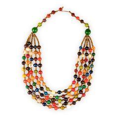 Pretty sustainable materials necklace