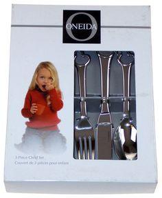 Oneida Duckling 3 Piece Child Set Silverware Flatware 18/10 SS Knife Fork Spoon