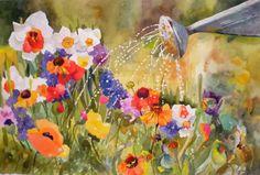 watercolor pansies paper - Pesquisa Google