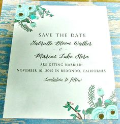 Water Color floral Save the Date: Something by sweetinvitationco