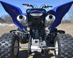 Barker's Performance Exhaust for the 2019 Yamaha Raptor 700 is here! Order your Barker's Raptor 700 dual exhaust system today. Yamaha Atv, Ducati, Yamaha Raptor, Hummer, Triumph Motorcycles, Bobbers, Mopar, Lamborghini, Atv Exhaust