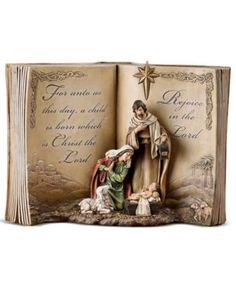 Holy Family Bible Nativity Scene Resin Stoneware Christmas Decoration Figurine -- You can get additional details at the image link. Nativity Scene Sets, Christmas Nativity Scene, Nativity Scenes, Christmas Angels, Open Bible, All Holidays, Holy Family, Holy Night, Home Decor Accessories