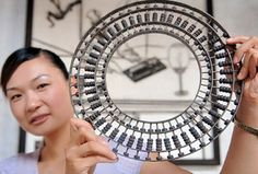 Bagua (the Eight Diagrams) abacus of the Ming Dynasty (1368-1644) in Huizhou County, east China's Anhui Province July 17, 2006. This 50 digit abacus is approximately 30cm (11.8 inches) in diameter and allows the operator to shift the decimal point in either direction.