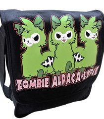 Zombie Alpaca Messenger Bag