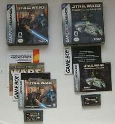 Star Wars Lot Flight Of The Falcon Episode II Attack Of The Clones Complete GBA