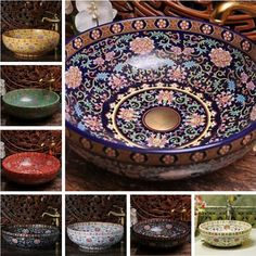 Find More Bathroom Sinks Information about Europe Vintage Style Hand Painting Art Porcelain Deep Blue Countertop Basin Sink Handmade Ceramic Bathroom Vessel Sinks Vanities,High Quality sink ceramic,China sink stainless Suppliers, Cheap sink plate from The Fourth Dimension Of Life on Aliexpress.com