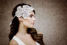 interesting accessory for wedding hairstyle perfect for long, brunet hairs# long hairs# accessory for wedding