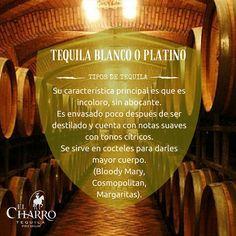 Conoce todos los tipos de tequila!!! #Tequila #Blanco #Platino
