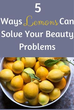 the juice from fresh lemons can do everything from help fade dark spots to remove product buildup from your scalp