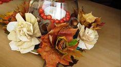 Jana Melas Pullmannová: Dekorácia z listov a šúpolia Leaf Projects, Leaves, Table Decorations, Fall, Christmas, Crafts, Painting, Youtube, Home Decor