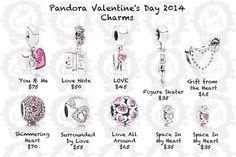Pandora Valentines   Pandora Valentine's Day Collection 2014 Prices