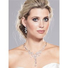 Double Vine Cubic Zirconia Necklace ($160) ❤ liked on Polyvore featuring jewelry, necklaces, vine necklace, vine jewelry, cubic zirconia necklaces, cz necklace and cz jewelry