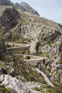 "Mallorca's Wild Ride on Sa Calobra ""One of the most dangerous roads in Spain."" These few words in our Lonely Planet Guide on Spain were enough to Dangerous Roads, Beautiful Streets, Winding Road, Train Travel, Where To Go, Wonderful Places, Day Trips, City Photo, Places To Visit"