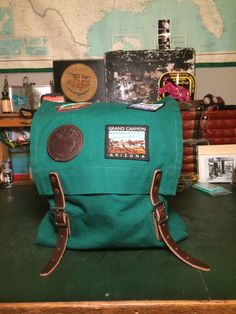 Vintage Gerry External Frame Backpack Early Leather