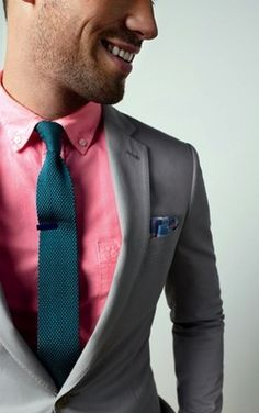 Smart color combination is key.  Shirt by American Eagle, Tie by The Tie Bar. Spring 2013.