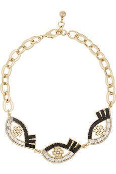 Lulu Frost Lumen gold-plated multi-stone necklace   NET-A-PORTER