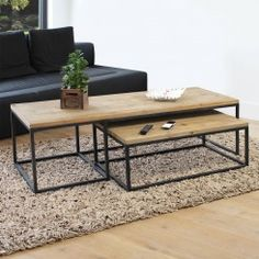 Table Basse industrielle - Made in Meubles
