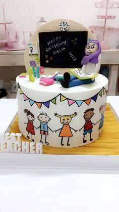 Teachers day cake for kindergarten children