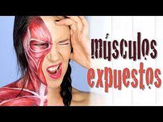 Maquillaje músculos expuestos efectos especiales Halloween | Silvia Quiros - YouTube