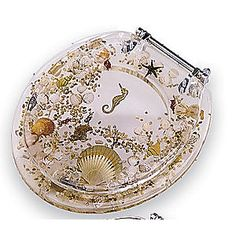 tropical fish toilet seat. Shell Toilet Seat Sea Lucite Tropical Fish  Beautiful Bathrooms