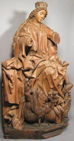 Saint Margaret Workshop of Michael Pacher  (Austrian or German, active by 1462/3–died 1498)                                                                cdi63-13-2s1.jpg (431×825)