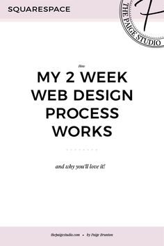 Okay so before I even start on this post I need to give credit where credit is due. The 2 week website was not my idea! (Though I do love it and am so darn happy I found out about it!) The idea came from the fab Lauren Hooker who runs Elle & Company, or … Web Design Quotes, Web Design Tips, Web Design Trends, Web Design Company, Page Design, Design Process, Design Strategy, Blog Design, Design Design