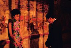"""Wong Kar Wai's film """"In the Mood for Love"""". the director of photography did a great job in this movie."""