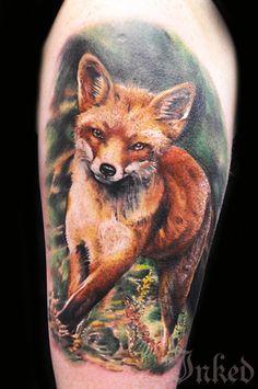 Foxy piece by Max Pniewski #InkedMagazine #fox #tattoo #tattoos #Inked #Ink #art