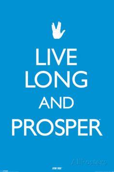 Star Trek - Live long & Prosper. Poster from AllPosters.com, $9.99