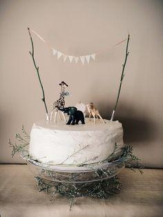 Jungle /safari cake with natural touches
