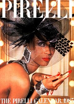 Iman by Norman Parkinson for Pirelli Calendar, 1985