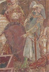 Supposto ritratto di Castruccio Castracani, dal camposanto di Pisa. Nato dalla nobile famiglia degli Antelminelli di Lucca nel 1281, è stato un famoso condottiero. Morì nel 1328, si sospetta per avvelenamento. Niccolo Machiavelli gli dedicò nel 1520 una biografia : Vita di Castruccio Castracani da Lucca.