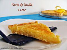 Recanto com Tempero: Tarte de limão e coco