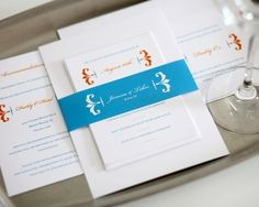 Love this fresh looking #wedding #invitation suite