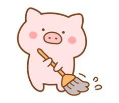 Cute Food Drawings, Cute Cartoon Drawings, Amazing Drawings, Pig Sketch, Doodles Bonitos, Kawaii Pig, Pig Wallpaper, Pig Drawing, Kawaii Illustration