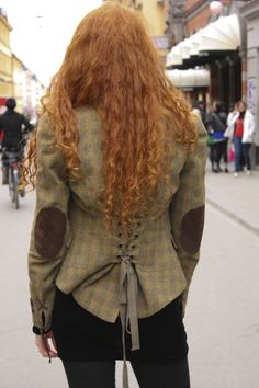 Street Fashion Stockholm. I love the jacket and the hair reminds me of @Rebecca Wigginton