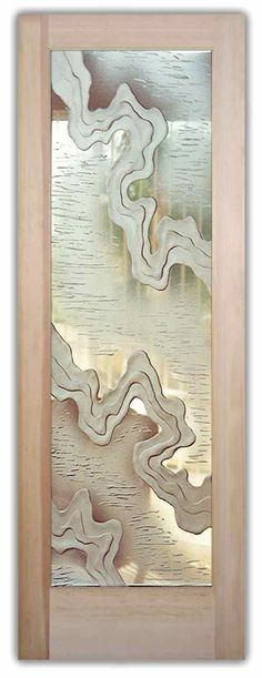 Internal Doors | jagged carved interior glass doors frosted