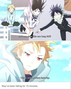 Noragami - Seriously though! I was just about to say : How high IS this building?!, when Yukine said that.