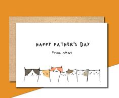The best cat dad card father's day card father's day Funny Fathers Day Card, Happy Fathers Day, Fathers Day Gifts, Funny Greetings, Funny Greeting Cards, Thank You Card Template, Thank You Cards, Daddy I Love You, Cat Dad